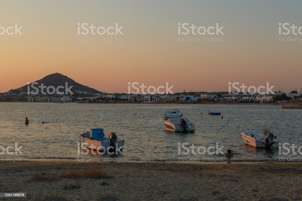 Agia Anna Beach Naxos Island stock photo