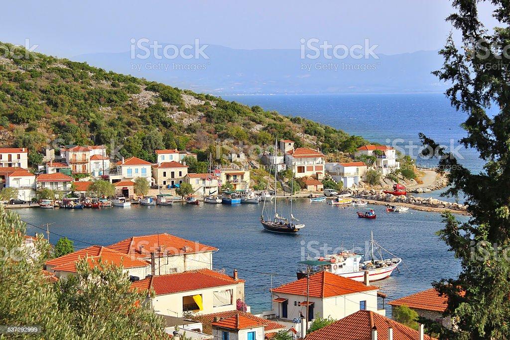 Agia Kyriaki village from above stock photo