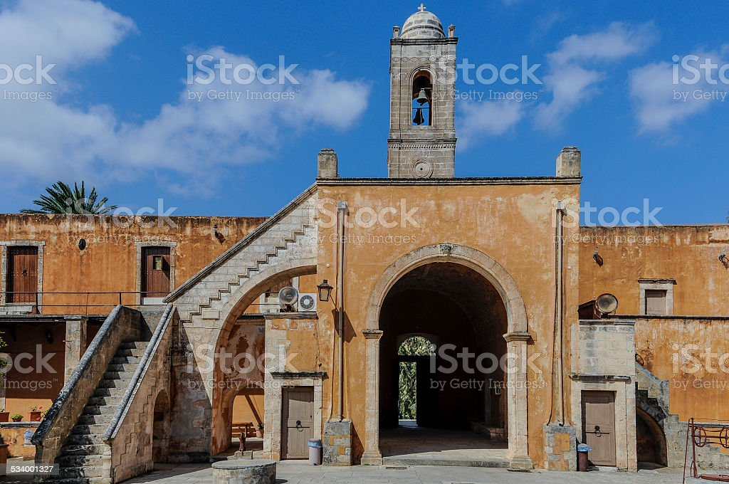 Agia Triada Monastery Bell Tower, Chania Region, Crete, Greece​​​ foto