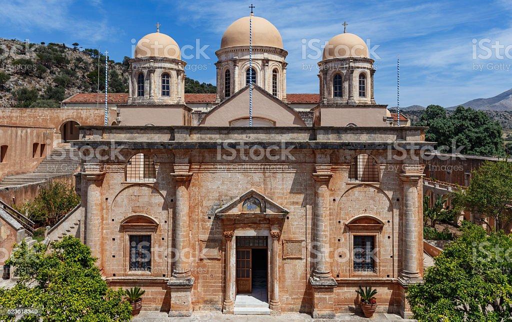 Agia Triada Monastery stock photo