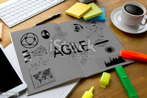 istock Agile Agility Nimble Quick Fast Concept businessman 647868476