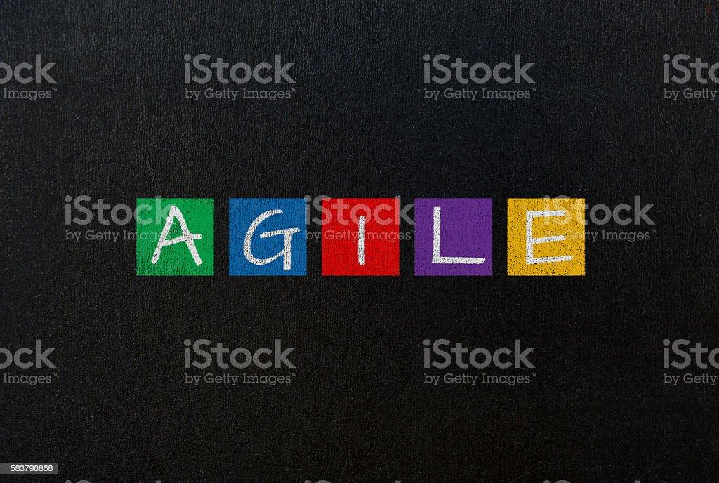 agile concept stock photo