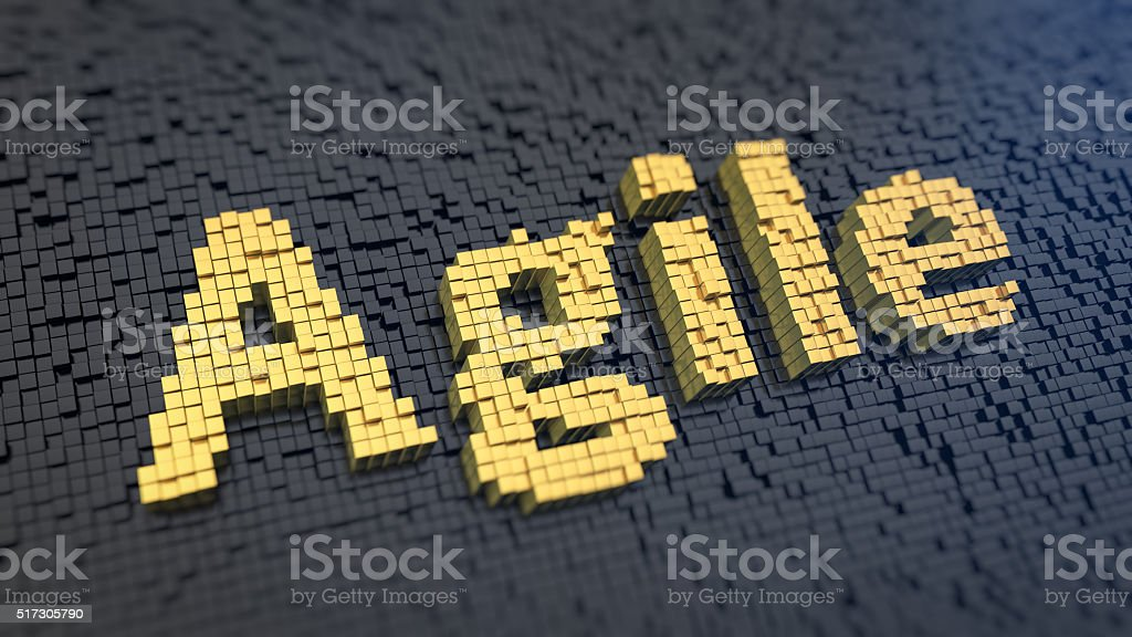 Agile cubics stock photo