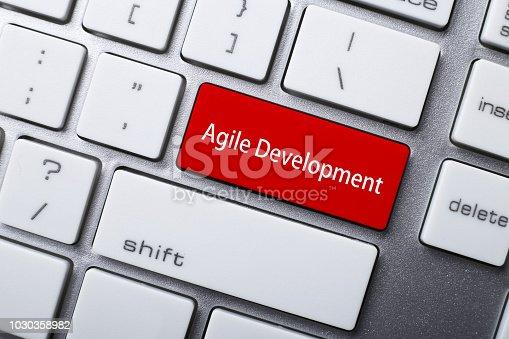 1180722244 istock photo Agile Development Computer Keyboard Button 1030358982
