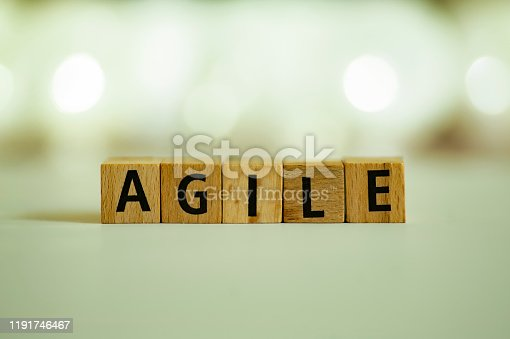 844020228 istock photo Agile metodologhy concept with letters 1191746467