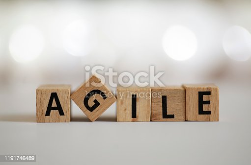 844020228 istock photo Agile metodologhy concept with letters 1191746489
