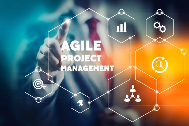 Agile project management stock photo