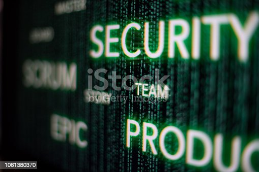 862615830 istock photo agile scrum cyber security concept on developer screen 1061380370