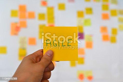istock Agile sticky note, software development 1134915269