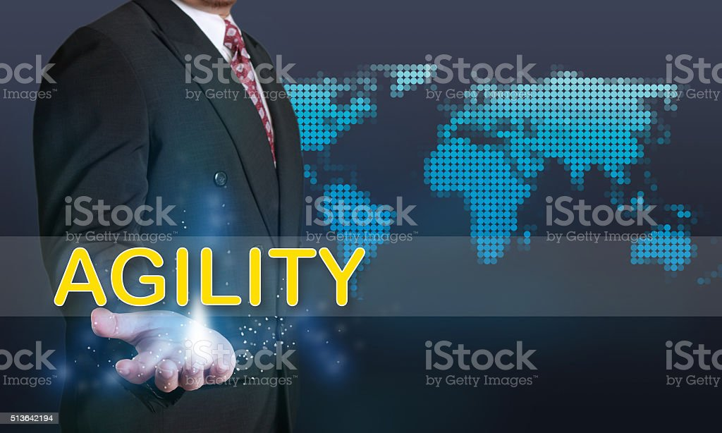Agility, Business Concept stock photo