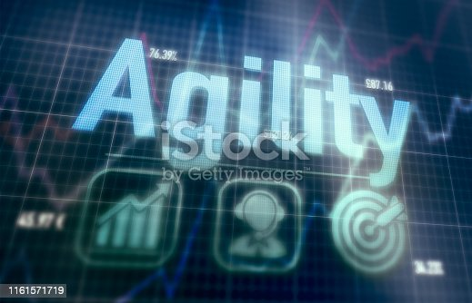 istock Agility concept on a computer display. 1161571719