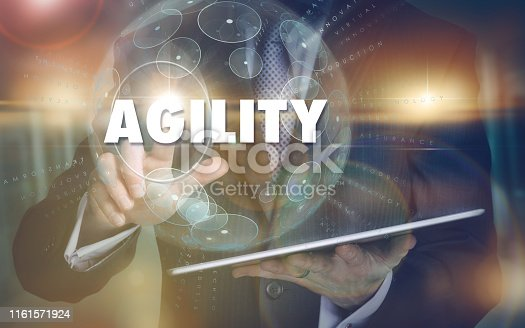 istock Agility concept on a computer display. 1161571924