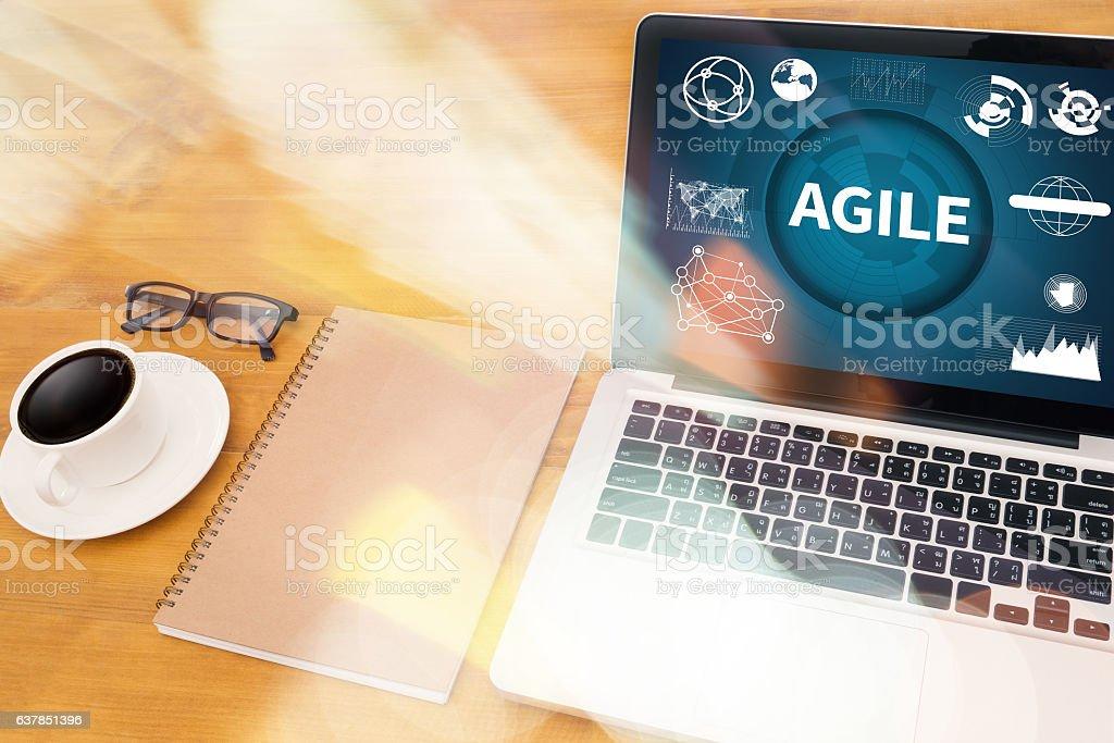 AGILE Agility Nimble Quick Fast Concept stock photo
