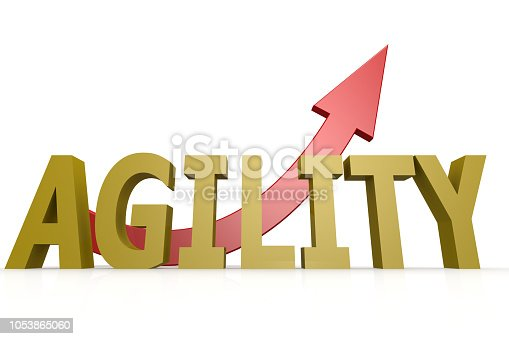 istock Agility word with red arrow 1053865060