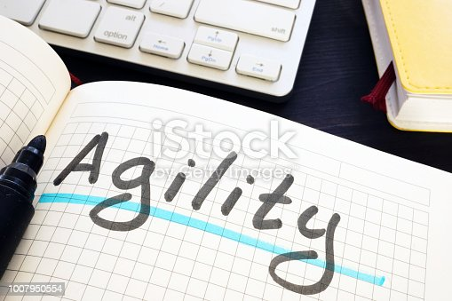 542587790 istock photo Agility written by hand in a note. 1007950554