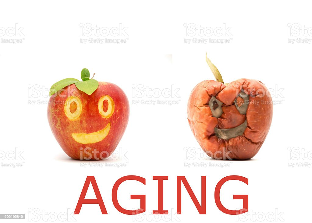 Aging concept stock photo