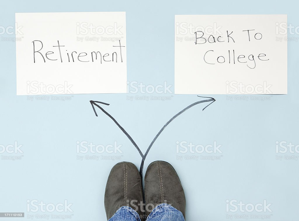 Aging: Difficult Decisions and Retirement royalty-free stock photo