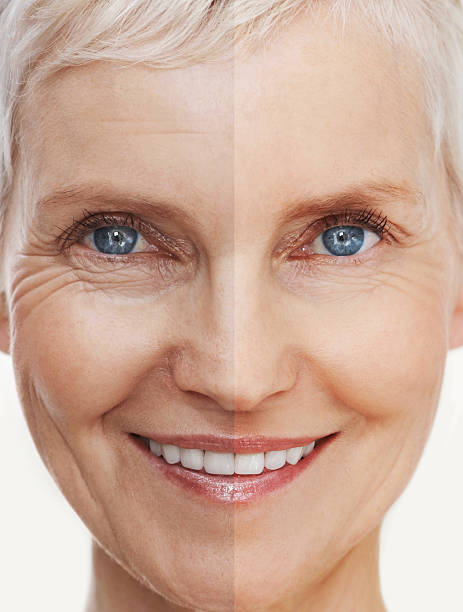Aging gracefully and beautifully stock photo