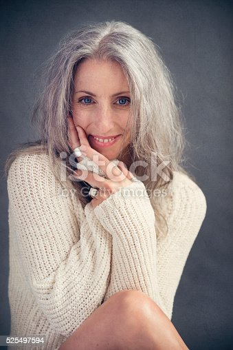Make And Model >> Aging Gracefully Beautiful Mature Woman With Silver Hair Portrait Stock Photo & More Pictures of ...