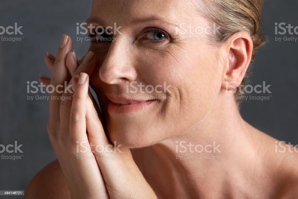 Aging gracefully - remaining beautiful stock photo