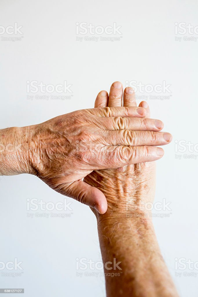 Aging Hands stock photo
