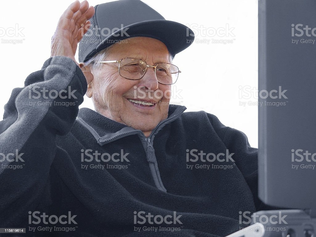 Aging happily royalty-free stock photo