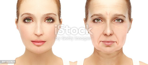 istock Aging. Mature woman-young woman. 641902824