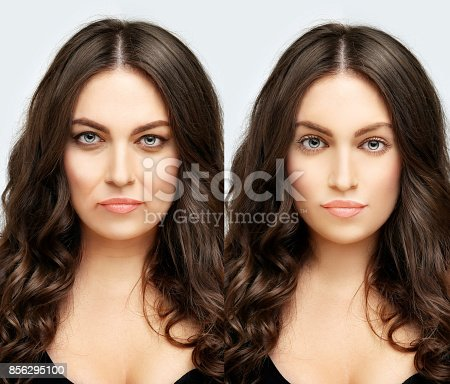 istock Aging. Mature woman-young woman. 856295100