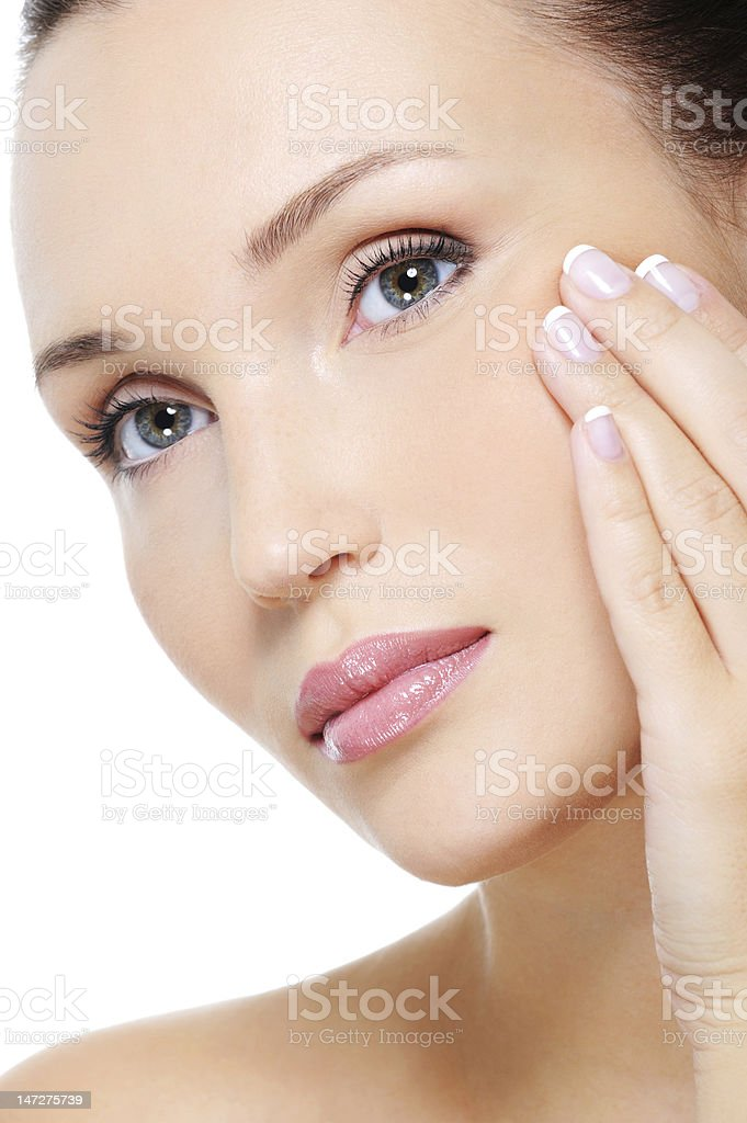aging process of skin royalty-free stock photo
