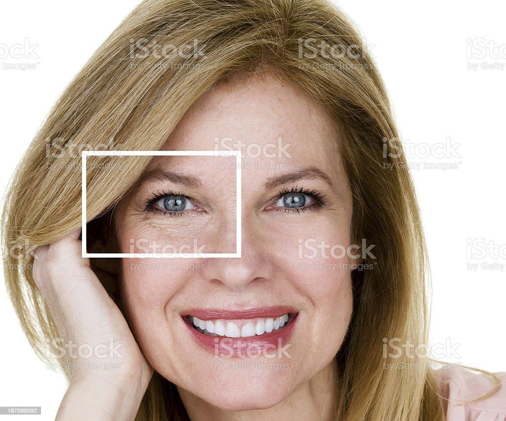 Aging process stock photo