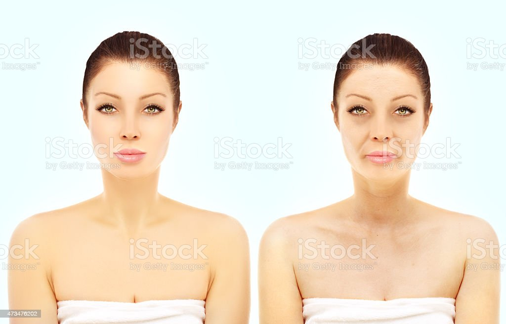 Aging process. stock photo