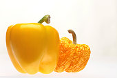 yellow bell peppers, fresh, stale, young, old
