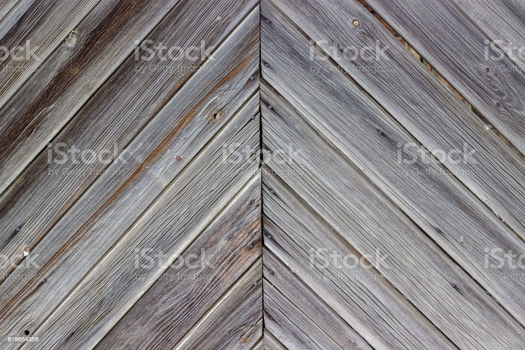 Aging wall of the wooden building as background or texture. stock photo