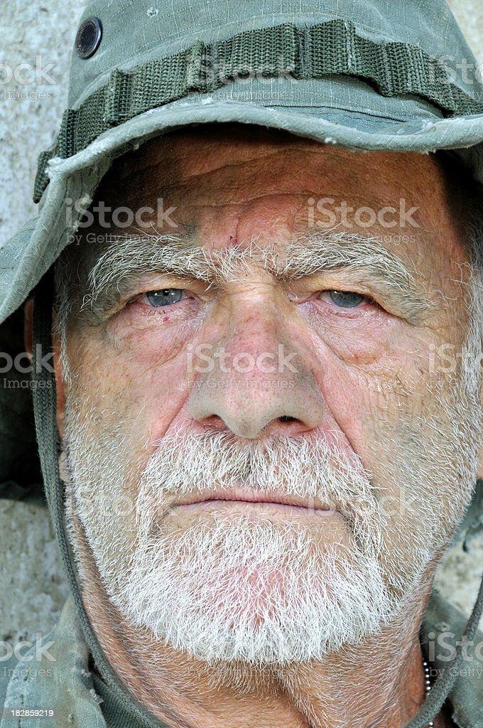 Aging War-Hardened Vietnam Veteran royalty-free stock photo