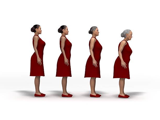 Aging woman stock photo