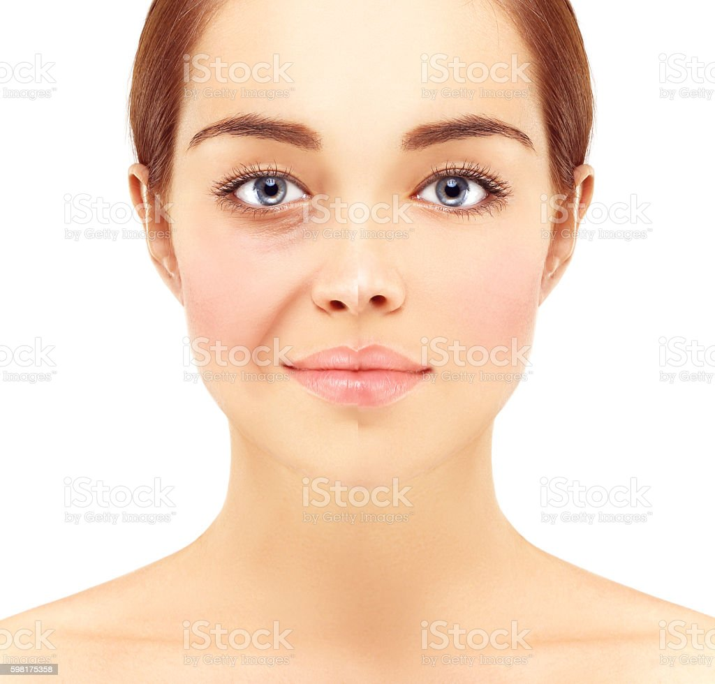 Aging.Correcting  the aging process stock photo