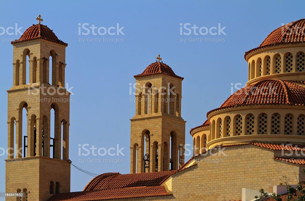 Agioi Anargyroi church stock photo