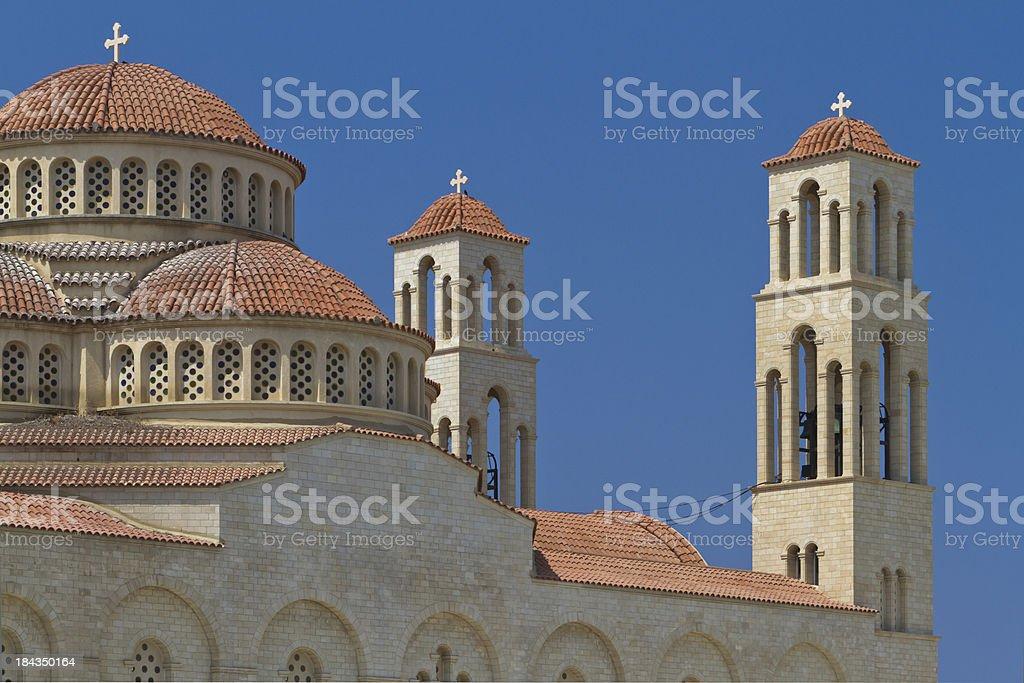 Agioi Anargyroi church royalty-free stock photo