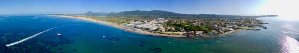 Agios Georgios Argyrades Beach Panorama stock photo