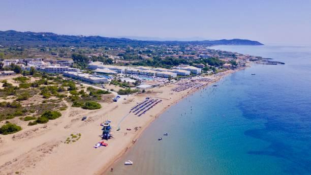 Agios Georgios Argyrades Beach stock photo
