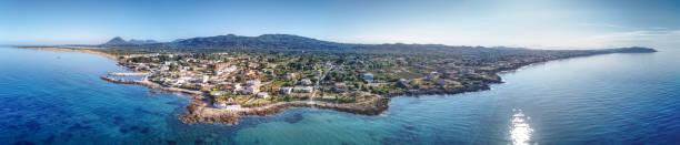 Agios Georgios Argyrades Panorama Shot stock photo