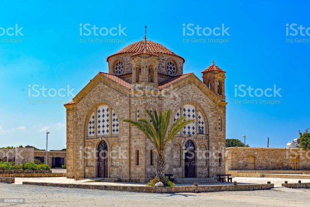Agios Georgios new Church in Pegeia stock photo