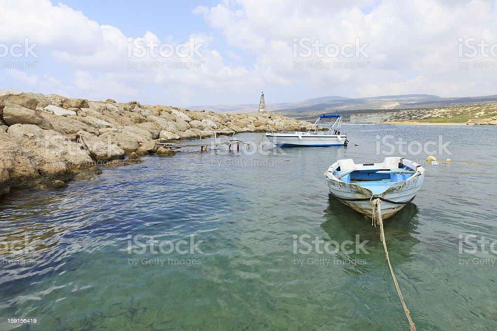 Agios Georgos pier, Paphos area, Cyprus royalty-free stock photo