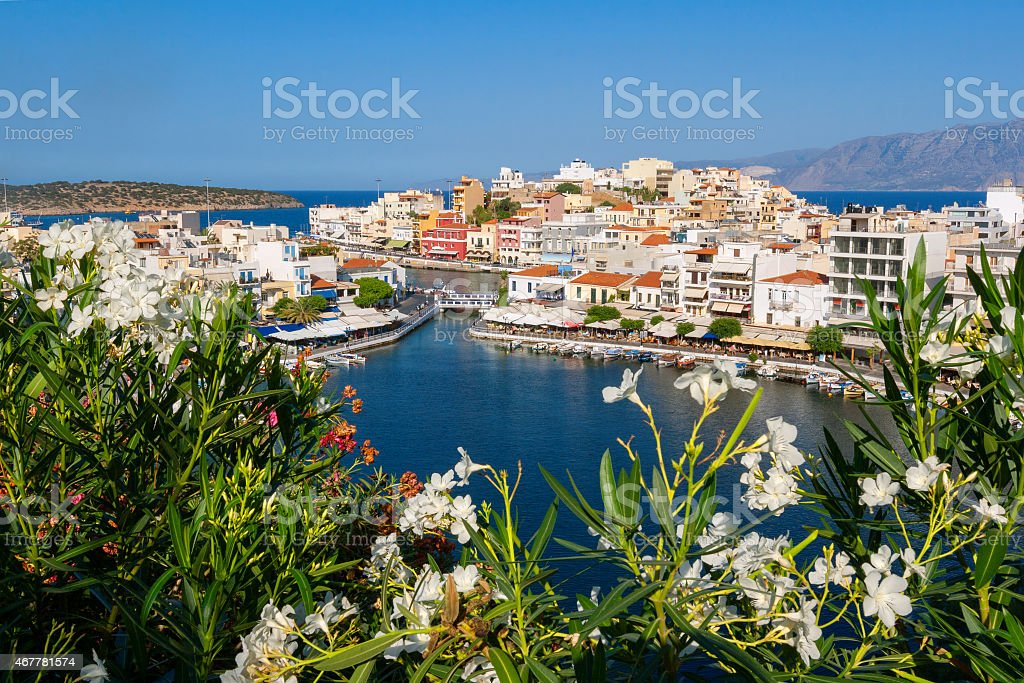 Agios Nikolaos. Crete, Greece stock photo