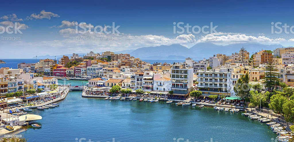 Agios Nikolaos, Crete, Greece stock photo