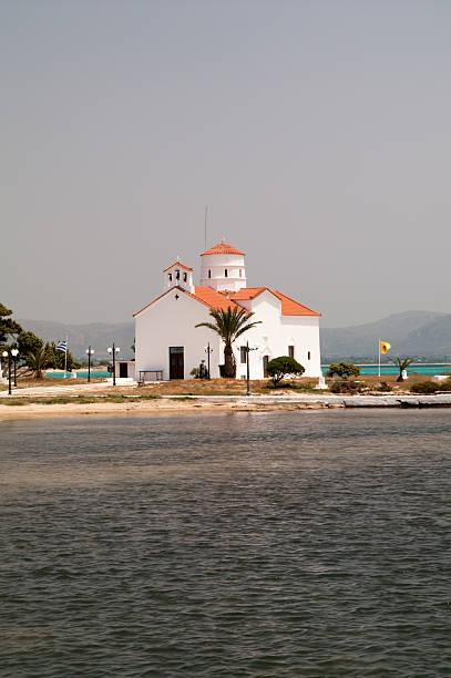 Kirche Agios Spiridonas Elafonisos Island, Griechenland – Foto