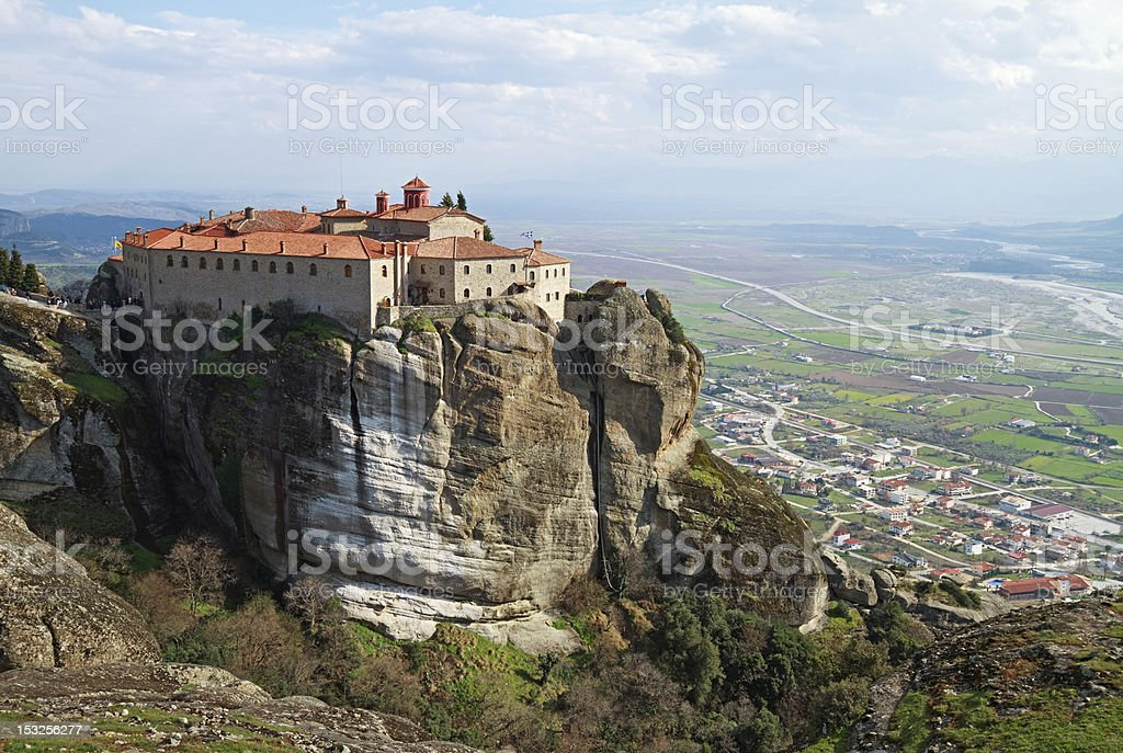 Agios Stefanos Monastery, Meteora, Greece stock photo