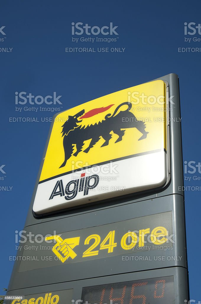 Agip Sign royalty-free stock photo