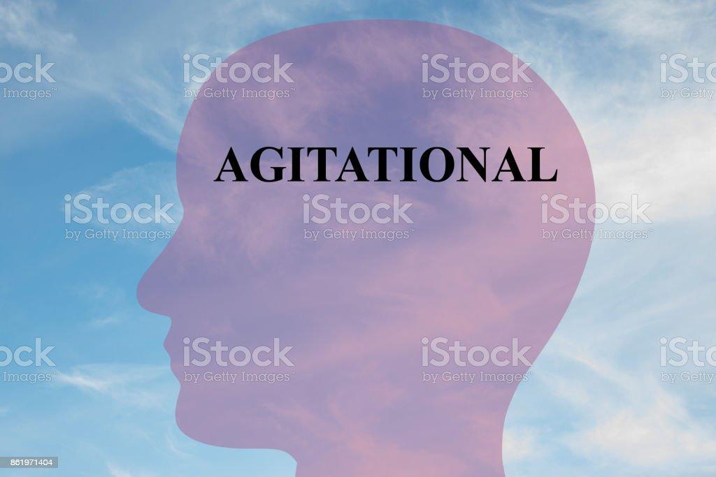 Agitational mentality concept stock photo