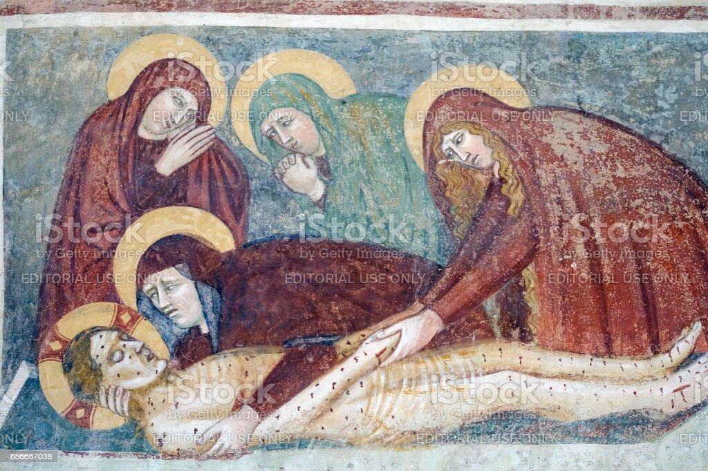 Agliate Brianza (Italy): historic church, baptistery stock photo